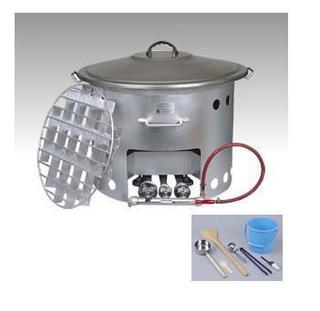 屋外用煮炊鍋『炊き出しくん』のご紹介です。(110L)
